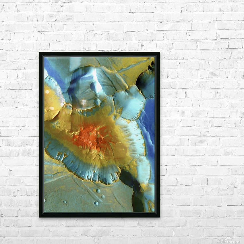 Mars Aerial View HD Sublimation Metal print with Decorating Float Frame (BOX)