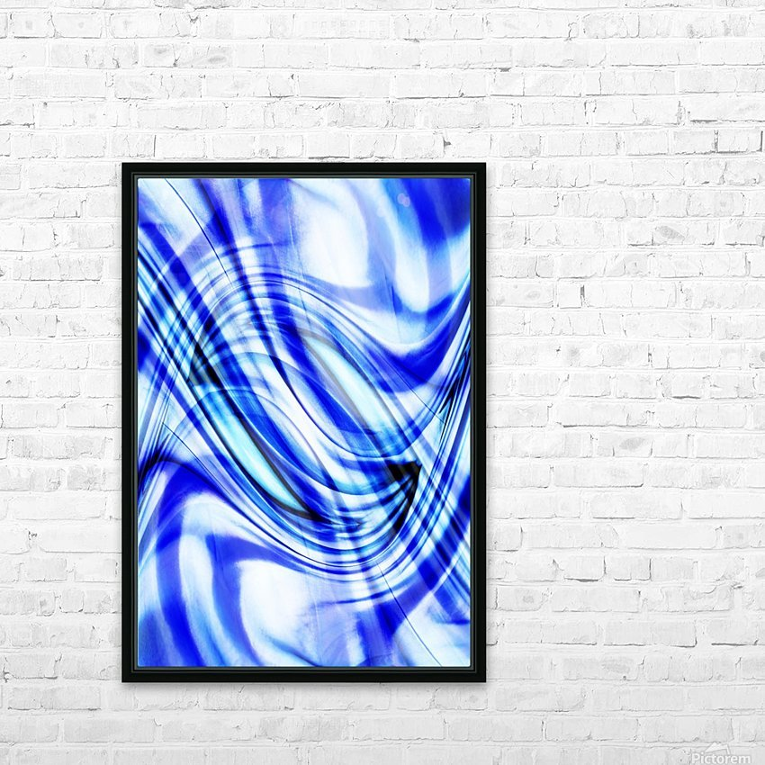 Swirling Abstract HD Sublimation Metal print with Decorating Float Frame (BOX)