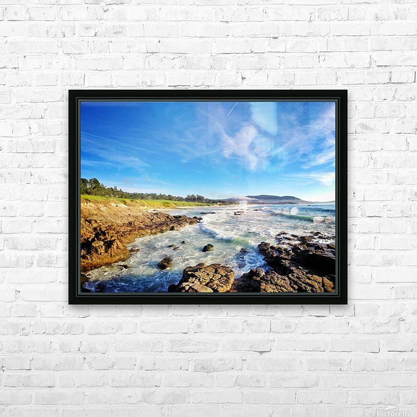 Pebble Beach GC HD Sublimation Metal print with Decorating Float Frame (BOX)