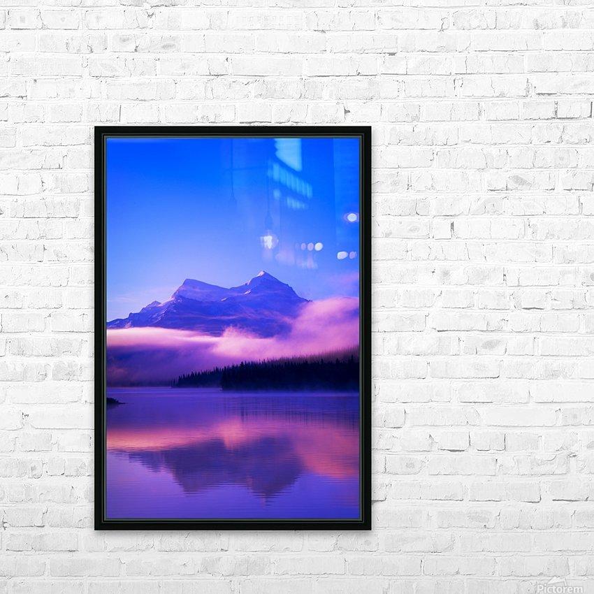 Maligne Lake, Jasper National Park, Alberta, Canada HD Sublimation Metal print with Decorating Float Frame (BOX)