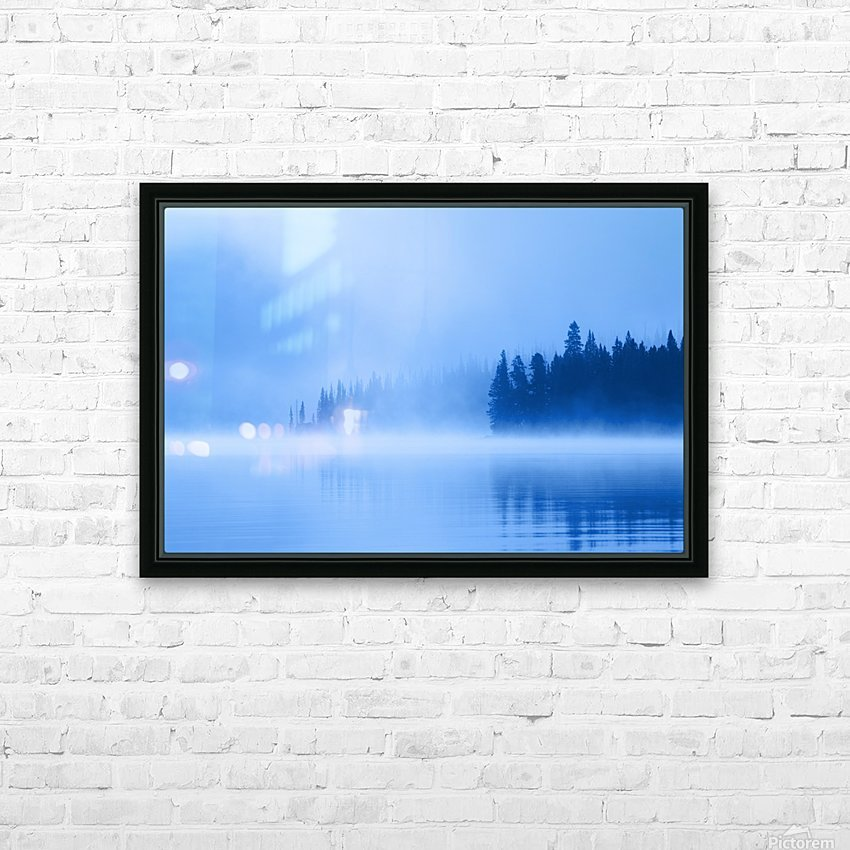 Foggy Lake HD Sublimation Metal print with Decorating Float Frame (BOX)