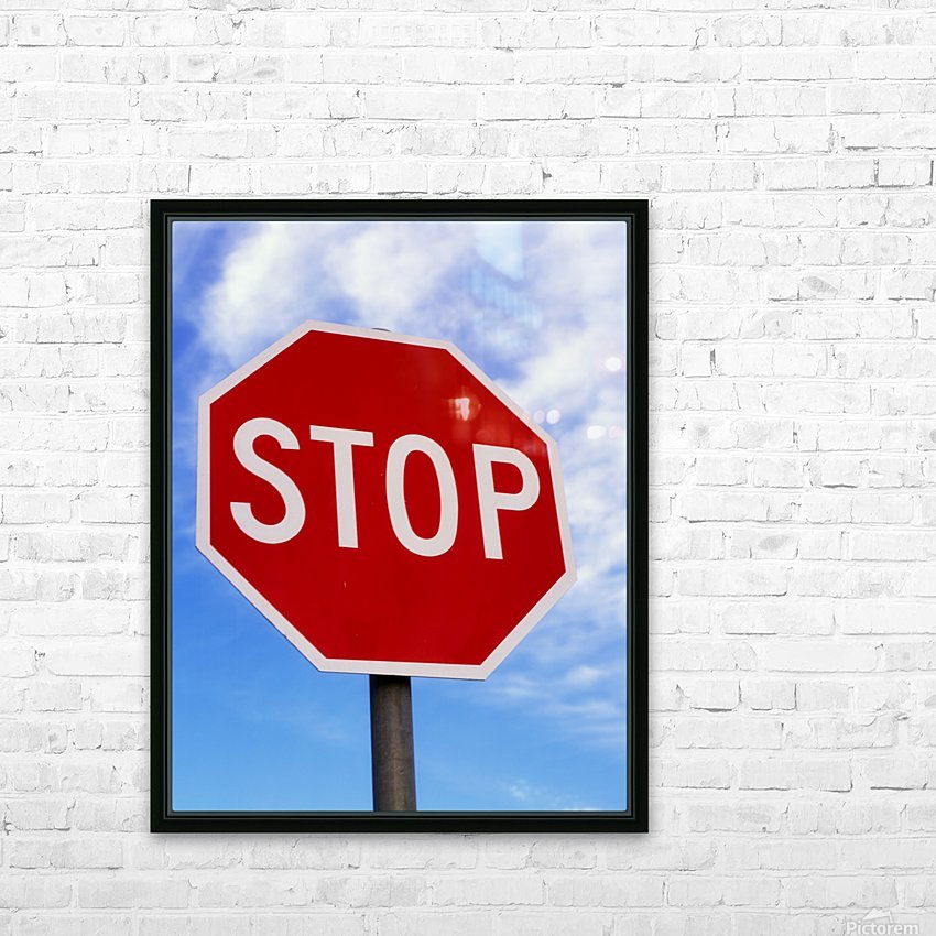 Stop Sign; Ireland HD Sublimation Metal print with Decorating Float Frame (BOX)