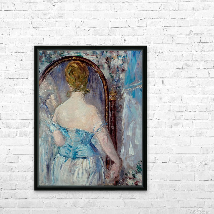 Before the Mirror by Manet HD Sublimation Metal print with Decorating Float Frame (BOX)