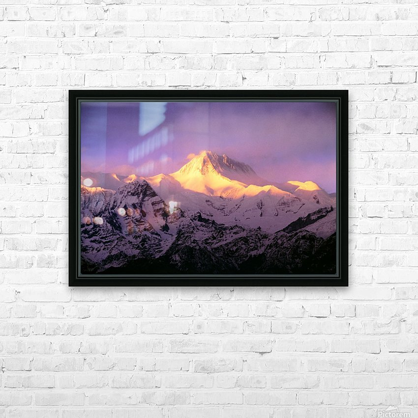 Annapurna South At Sunrise, Nepal HD Sublimation Metal print with Decorating Float Frame (BOX)