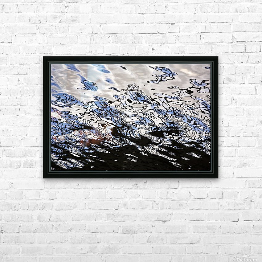 Water Reflections HD Sublimation Metal print with Decorating Float Frame (BOX)
