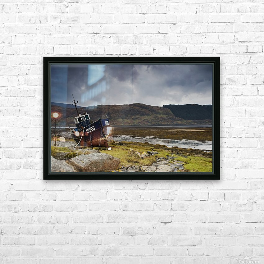 Boat Ashore, Loch Sunart, Scotland HD Sublimation Metal print with Decorating Float Frame (BOX)