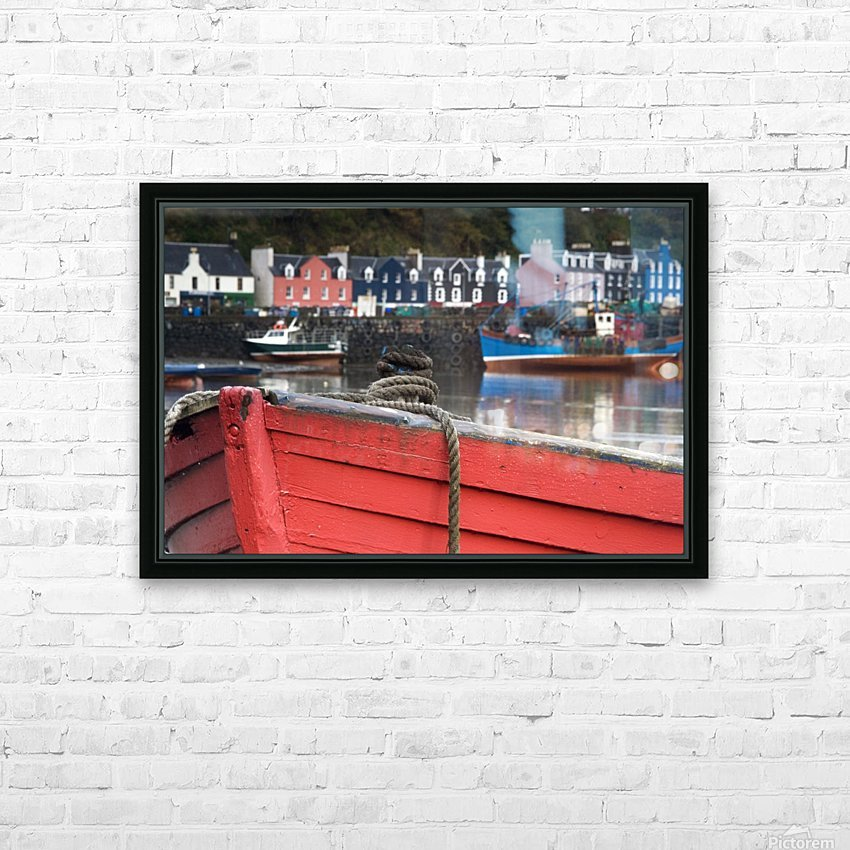 Closeup Of The Bow Of A Boat, Tobermory, Isle Of Mull, Scotland HD Sublimation Metal print with Decorating Float Frame (BOX)