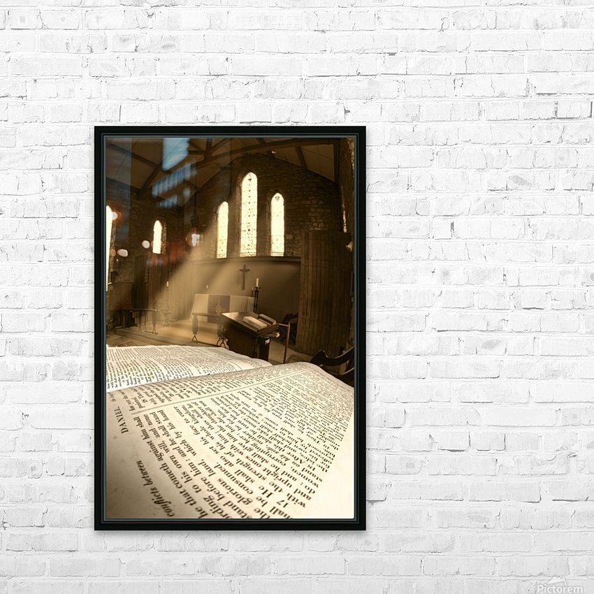 Church, Rosedale, West Yorkshire, England HD Sublimation Metal print with Decorating Float Frame (BOX)