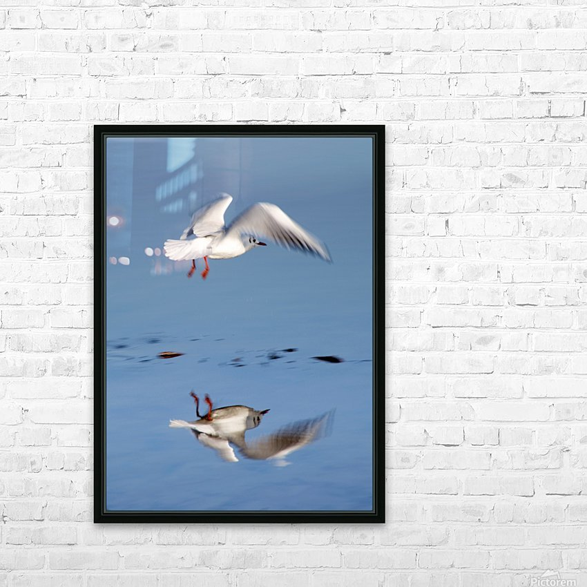 Bird Landing HD Sublimation Metal print with Decorating Float Frame (BOX)