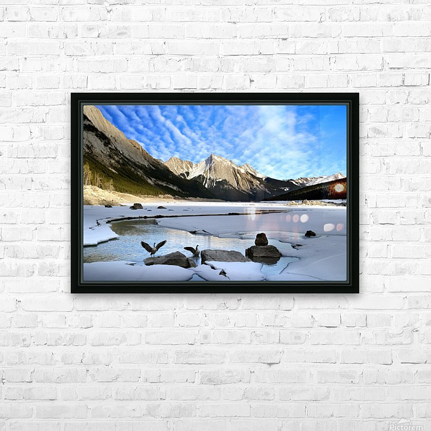 Medicine Lake, Jasper National Park, Alberta, Canada HD Sublimation Metal print with Decorating Float Frame (BOX)
