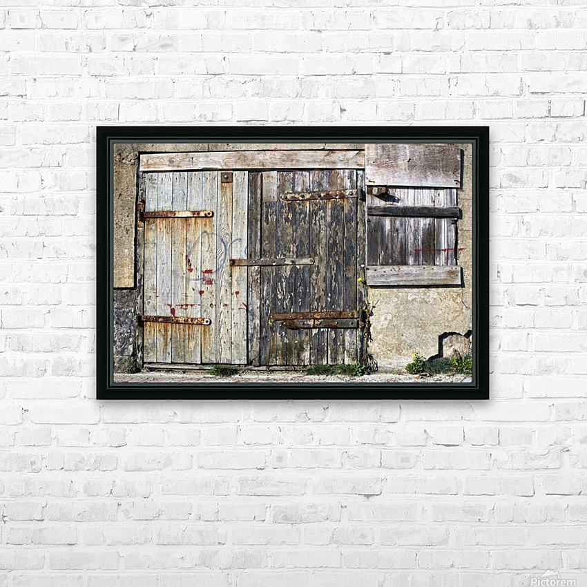 Old Wooden Door Of Building HD Sublimation Metal print with Decorating Float Frame (BOX)