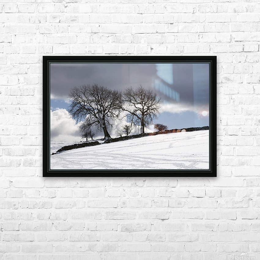 Snowy Field, Weardale, County Durham, England HD Sublimation Metal print with Decorating Float Frame (BOX)
