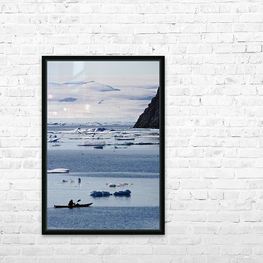 Kayaking, Nunavut, Canada HD Sublimation Metal print with Decorating Float Frame (BOX)