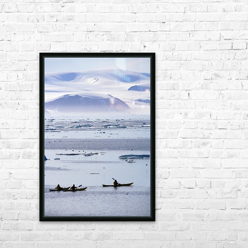 Kayaking, Nunavut, Canada HD Sublimation Metal print with Decorating Float Frame (BOX)