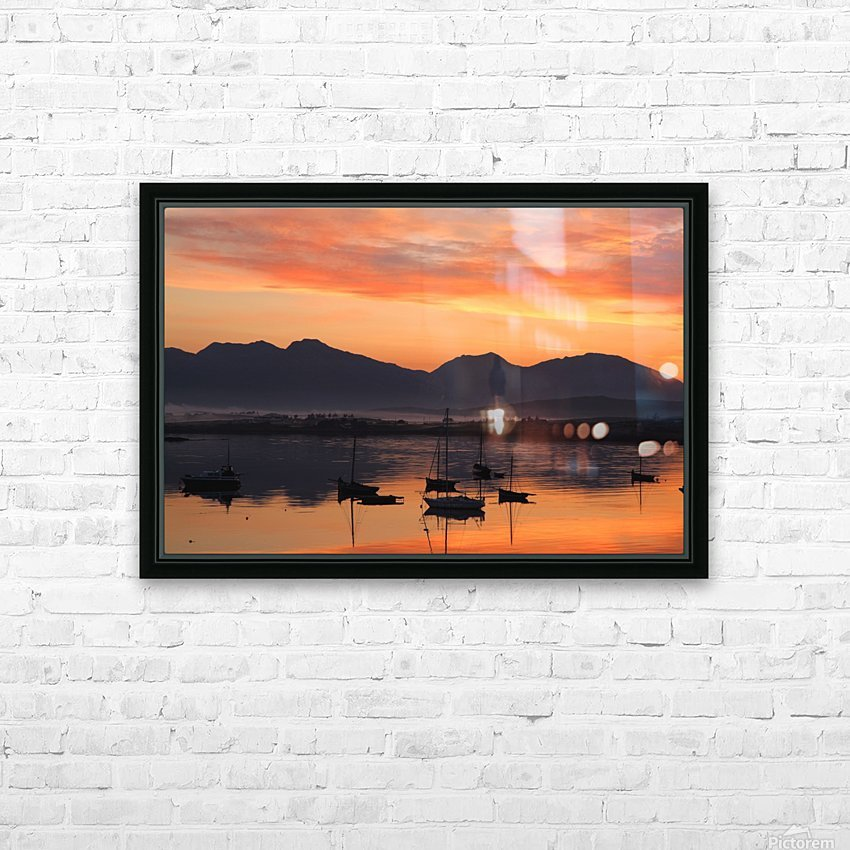 Sunrise At Roundstone Harbour With 12 Bens, Galway, Ireland HD Sublimation Metal print with Decorating Float Frame (BOX)