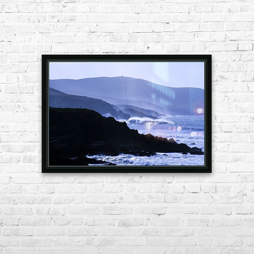 St Finian's Bay, County Kerry, Ireland, Bolus Head In The Background HD Sublimation Metal print with Decorating Float Frame (BOX)