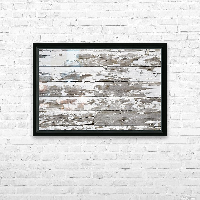 Paint Peeling Off Wood HD Sublimation Metal print with Decorating Float Frame (BOX)