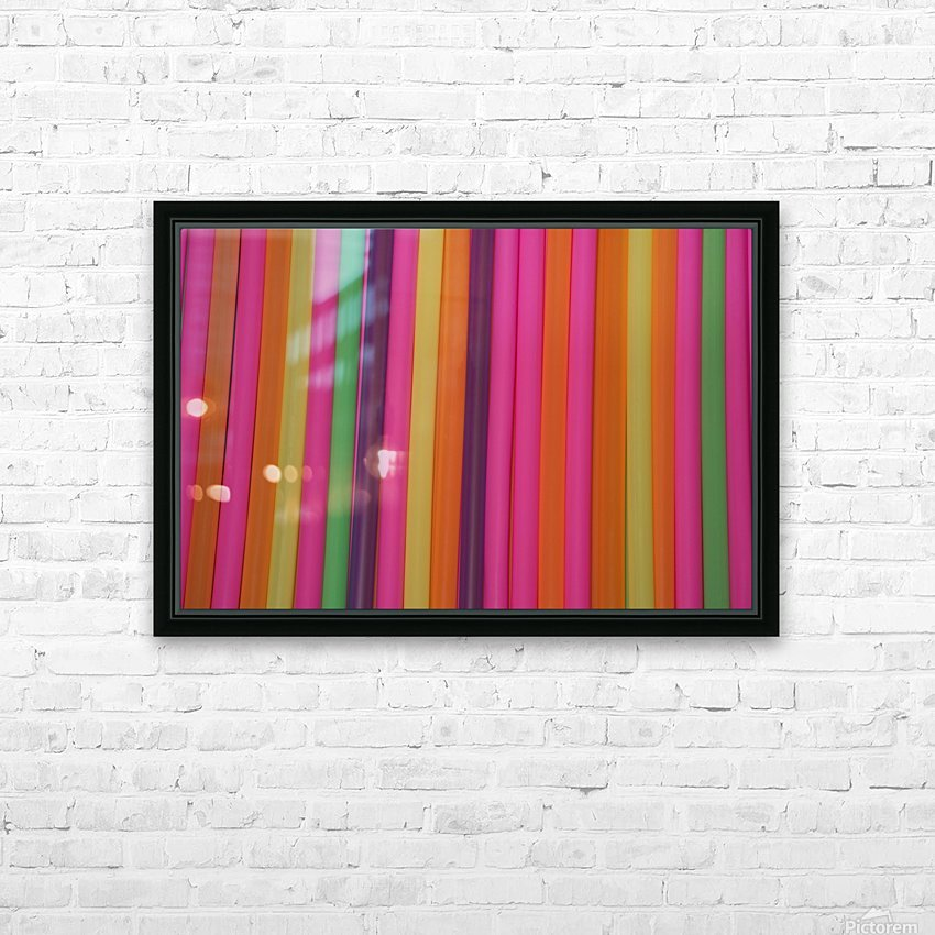 Drinking Straws HD Sublimation Metal print with Decorating Float Frame (BOX)