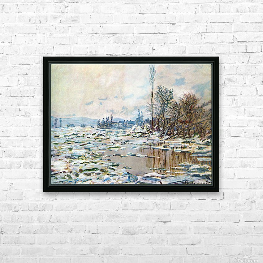 Break Up of Ice by Monet HD Sublimation Metal print with Decorating Float Frame (BOX)