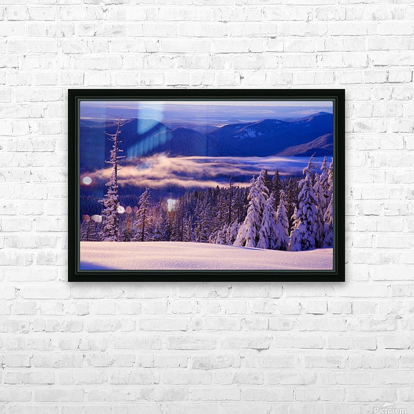 Winter Snow, Cascade Range, Oregon, Usa HD Sublimation Metal print with Decorating Float Frame (BOX)
