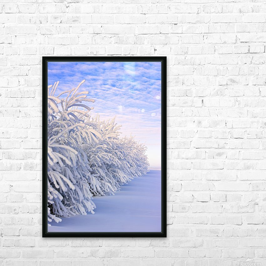 Covered In Snow HD Sublimation Metal print with Decorating Float Frame (BOX)