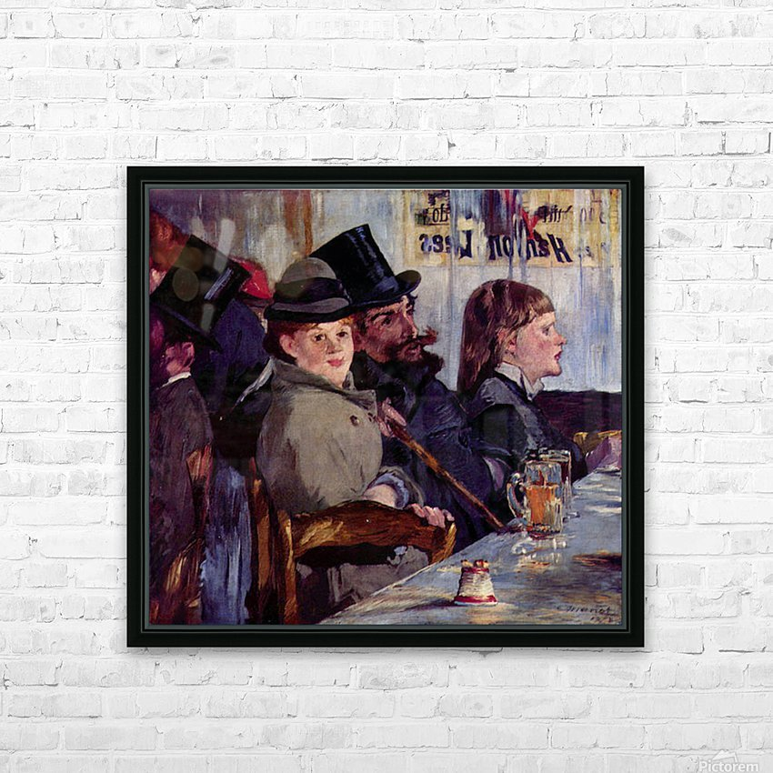 Cabaret in Reichshoffen by Manet HD Sublimation Metal print with Decorating Float Frame (BOX)