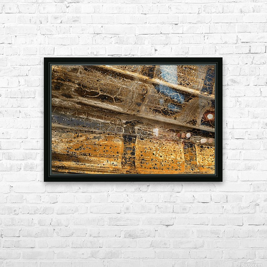 Detail Of Burnt Building HD Sublimation Metal print with Decorating Float Frame (BOX)
