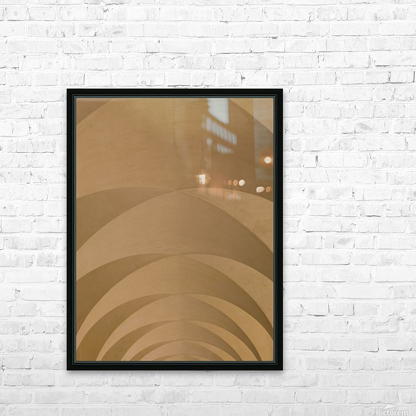 Arched Roof, Venice, Italy HD Sublimation Metal print with Decorating Float Frame (BOX)