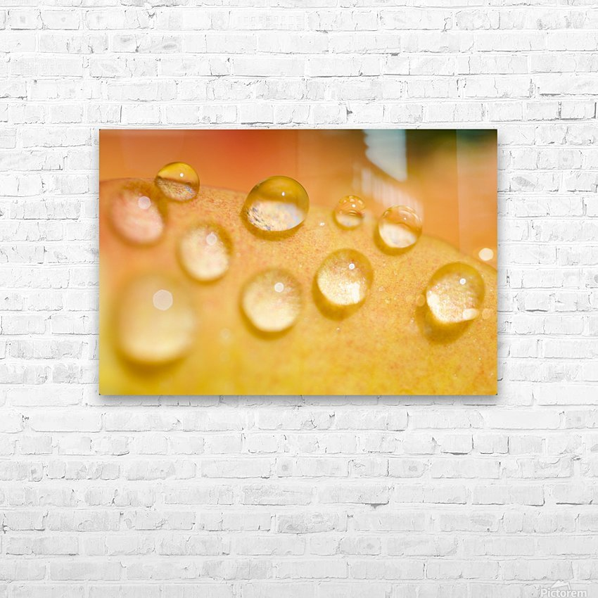 Water Droplets HD Sublimation Metal print with Decorating Float Frame (BOX)