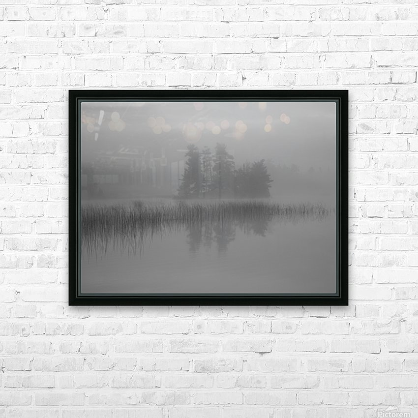 Lake Of The Woods, Ontario, Canada; Mist Rises Over Lake HD Sublimation Metal print with Decorating Float Frame (BOX)