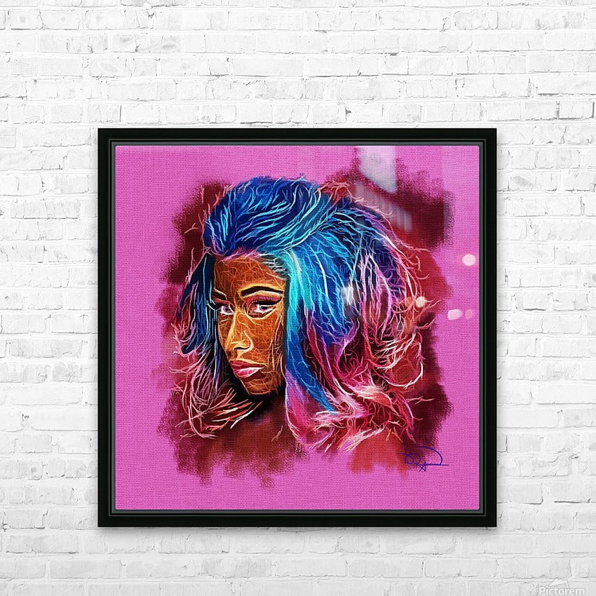 Nicki Minaj Abstracto HD Sublimation Metal print with Decorating Float Frame (BOX)