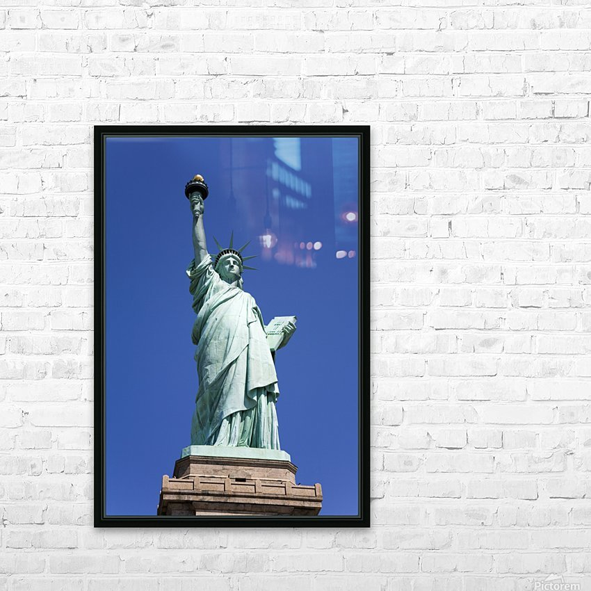 Statue Of Liberty, Lower Manhattan, New York City, New York, Usa HD Sublimation Metal print with Decorating Float Frame (BOX)
