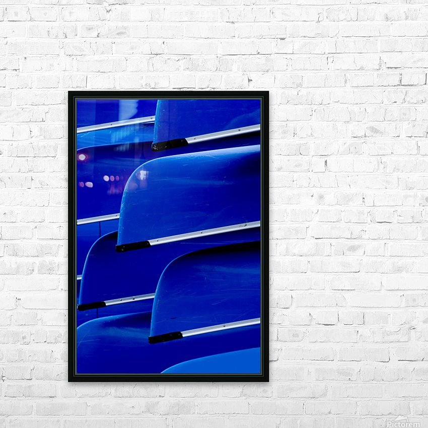 Blue Canoes HD Sublimation Metal print with Decorating Float Frame (BOX)