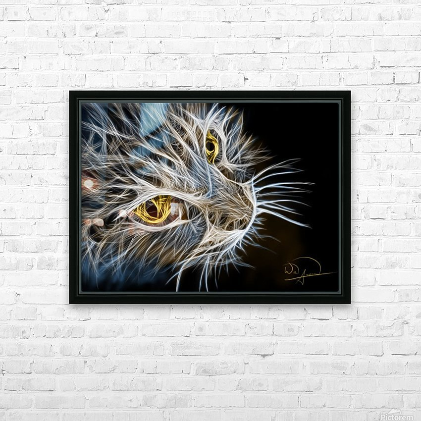 Cat Abstracto HD Sublimation Metal print with Decorating Float Frame (BOX)