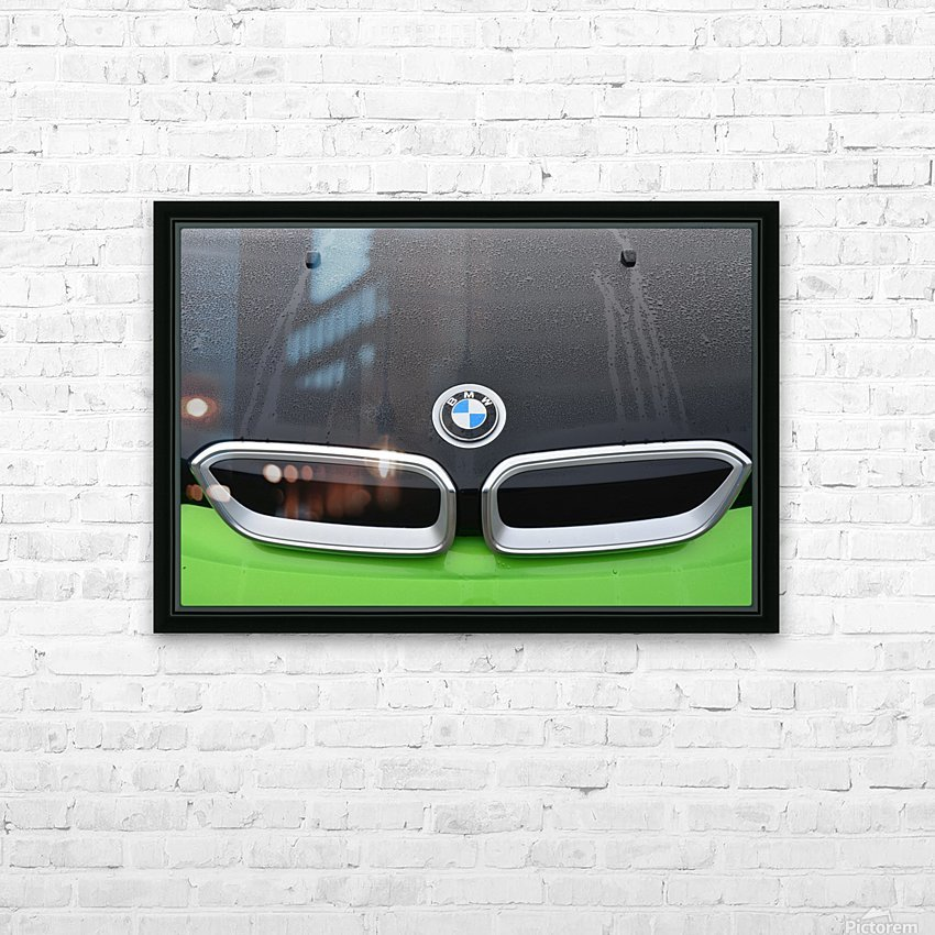 bmw HD Sublimation Metal print with Decorating Float Frame (BOX)
