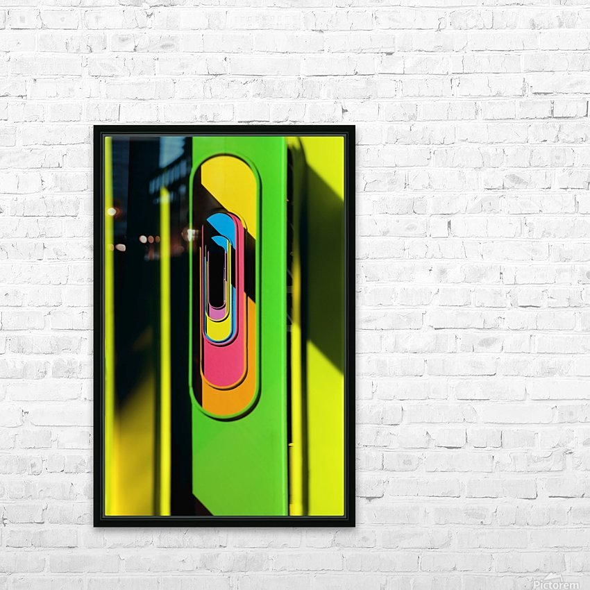 Looking Through Colorful Ovals HD Sublimation Metal print with Decorating Float Frame (BOX)