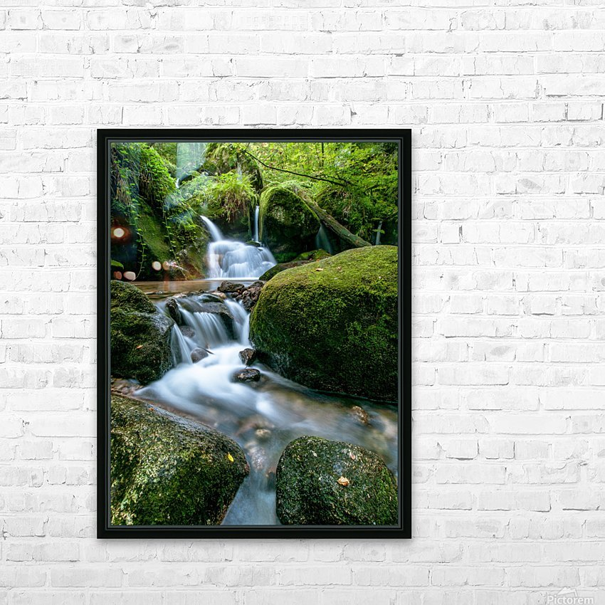 Small Waterfall in the German Black Forest HD Sublimation Metal print with Decorating Float Frame (BOX)