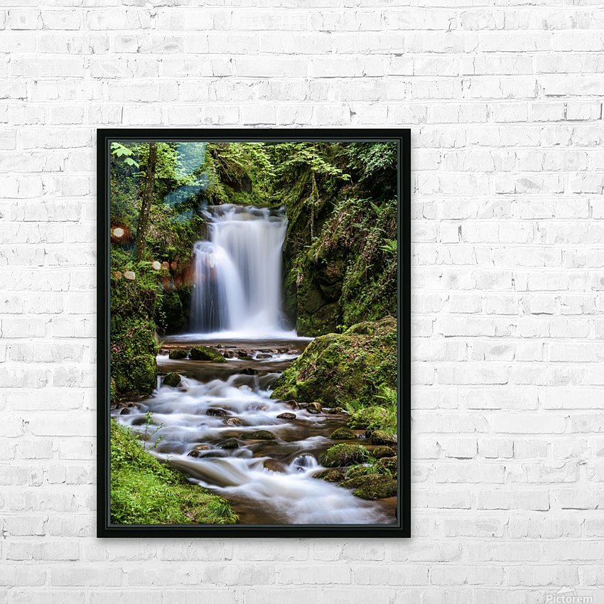 Watefall in the Black Forest in Germany HD Sublimation Metal print with Decorating Float Frame (BOX)