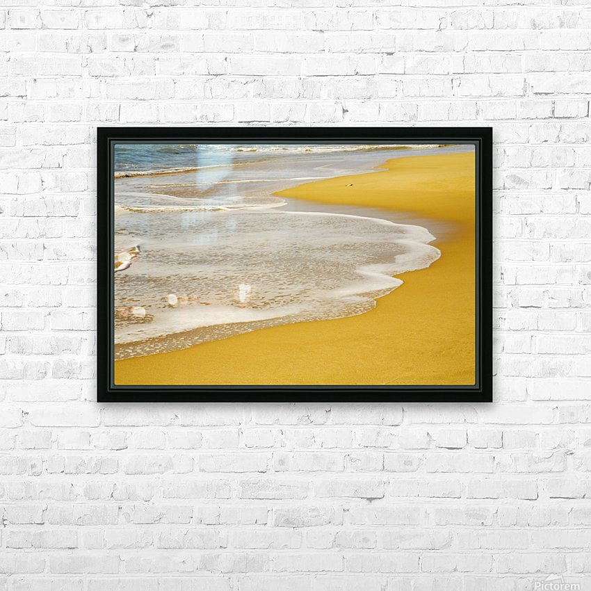 Tide On The Beach HD Sublimation Metal print with Decorating Float Frame (BOX)
