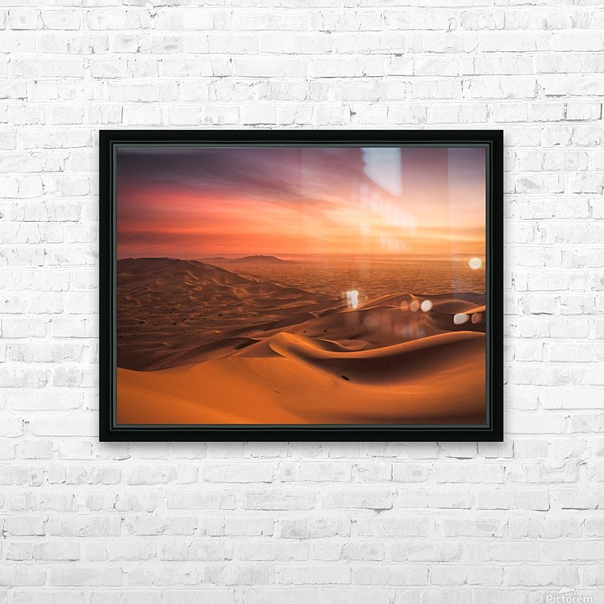Sunset in the Desert HD Sublimation Metal print with Decorating Float Frame (BOX)
