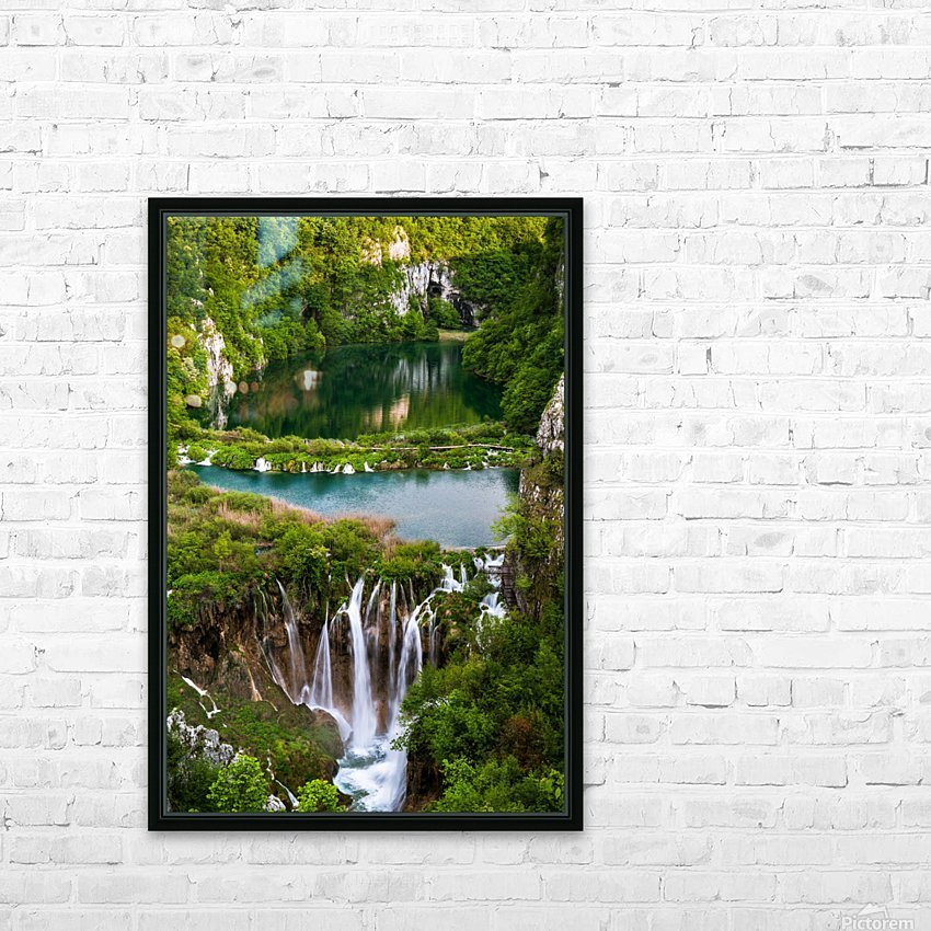 Waterfall Paradise Plitvice Lakes in Croatia HD Sublimation Metal print with Decorating Float Frame (BOX)