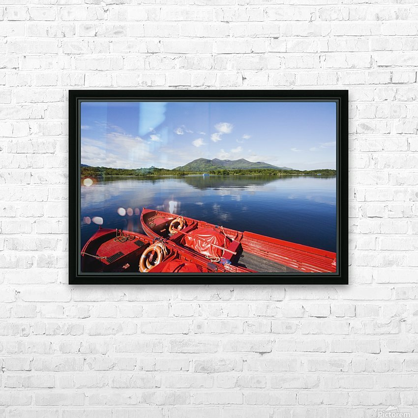 Killarney, County Kerry, Munster, Ireland; Two Boats In The Water HD Sublimation Metal print with Decorating Float Frame (BOX)
