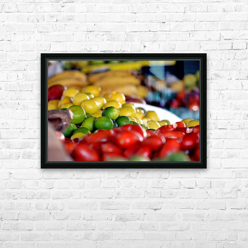 Farmers Market HD Sublimation Metal print with Decorating Float Frame (BOX)