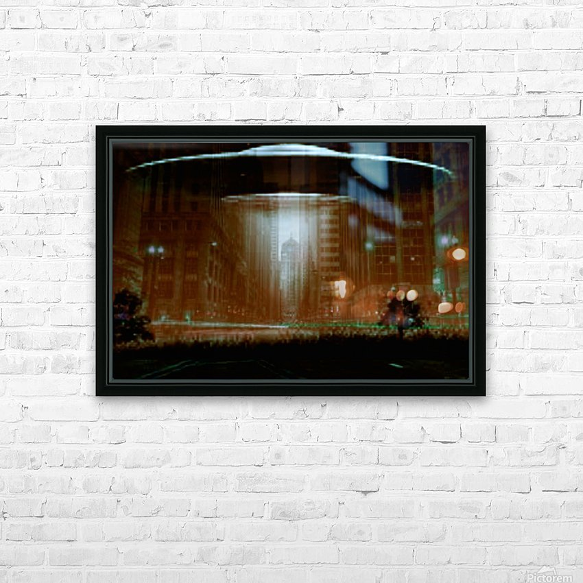 city invaded HD Sublimation Metal print with Decorating Float Frame (BOX)