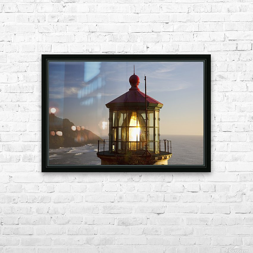 Heceta Head Lighthouse Along The Oregon Coast; Florence, Oregon, United States Of America HD Sublimation Metal print with Decorating Float Frame (BOX)