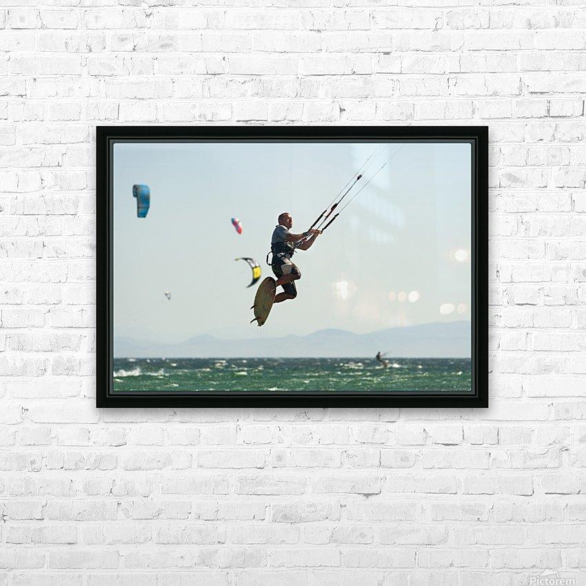 Kitesurfing; Tarifa, Cadiz, Andalusia, Spain HD Sublimation Metal print with Decorating Float Frame (BOX)