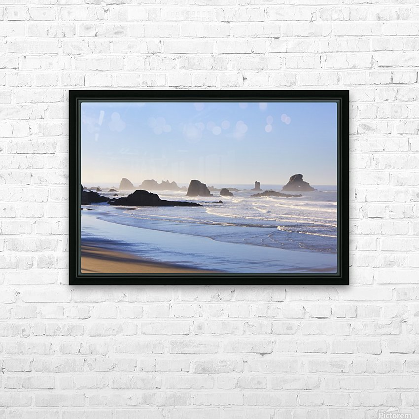 Tide At Indian Beach; Oregon, United States Of America HD Sublimation Metal print with Decorating Float Frame (BOX)