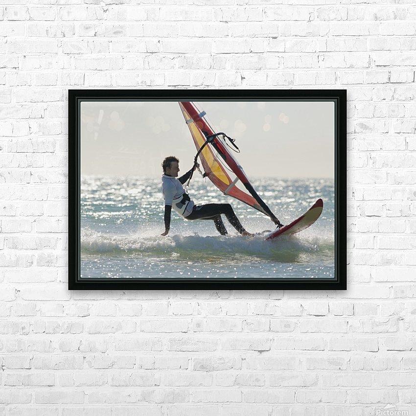 Windsurfing; Los Lances Beach Tarifa Spain HD Sublimation Metal print with Decorating Float Frame (BOX)