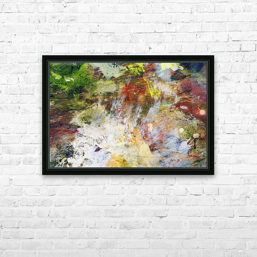 Abstract Oil Painting On Canvas HD Sublimation Metal print with Decorating Float Frame (BOX)