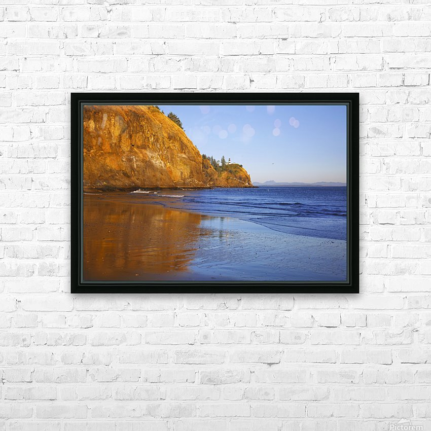 Cape Disappointment Lighthouse; Ilwaco, Washington, United States of America HD Sublimation Metal print with Decorating Float Frame (BOX)